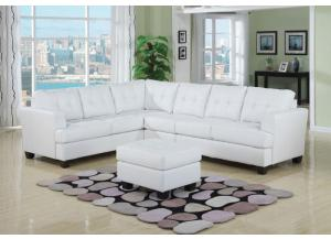White L-shaped Sectional